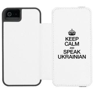 KEEP CALM AND SPEAK UKRAINIAN INCIPIO WATSON™ iPhone 5 WALLET CASE