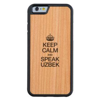 KEEP CALM AND SPEAK UZBEK CARVED® CHERRY iPhone 6 BUMPER CASE