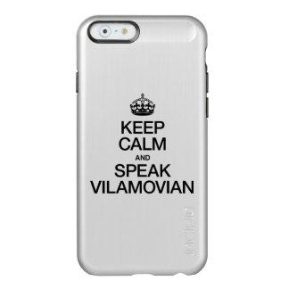 KEEP CALM AND SPEAK VILAMOVIAN INCIPIO FEATHER® SHINE iPhone 6 CASE