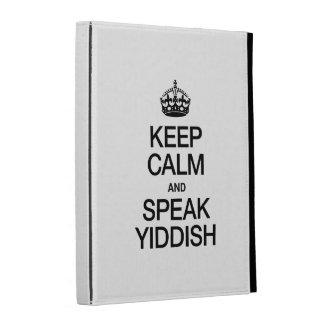KEEP CALM AND SPEAK YIDDISH iPad FOLIO CASE