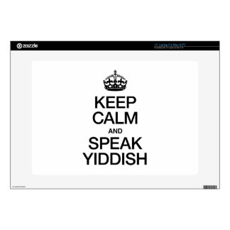 """KEEP CALM AND SPEAK YIDDISH DECAL FOR 15"""" LAPTOP"""