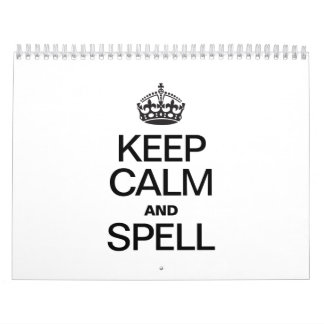 KEEP CALM AND SPELL WALL CALENDARS