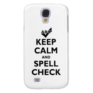 'Keep Calm And Spell Check' Samsung Galaxy S4 Case