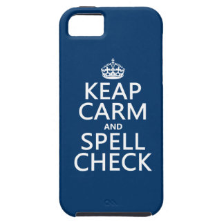 Keep Calm and Spell Check (with errors)(any color) iPhone 5 Case