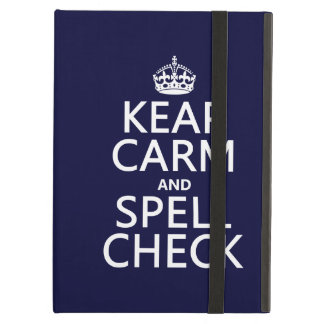 Keep Calm and Spell Check (with errors)(any color) Cover For iPad Air