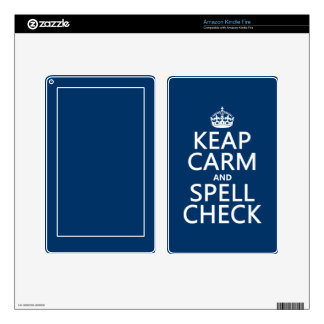 Keep Calm and Spell Check (with errors)(any color) Decals For Kindle Fire