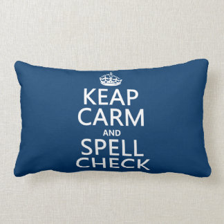 Keep Calm and Spell Check (with errors)(any color) Throw Pillows