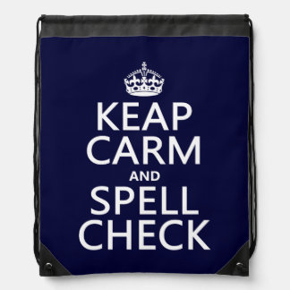 Keep Calm and Spell Check (with errors)(any color) Backpack