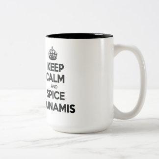 Keep Calm and Spice Dunamis Two-Tone Coffee Mug