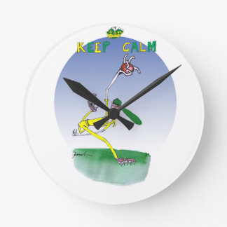 keep calm and spin that ball, tony fernandes round clock