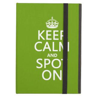 Keep Calm and Spot On (customize colours) iPad Folio Cases