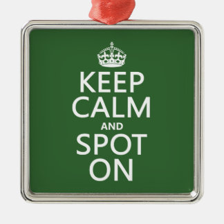 Keep Calm and Spot On (customize colours) Metal Ornament