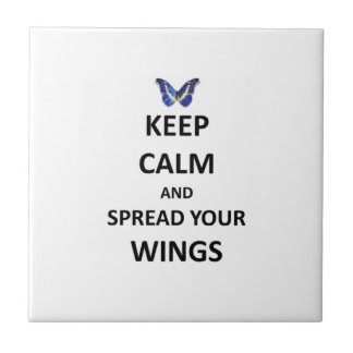 Keep calm and spread your wings ceramic tile