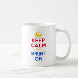 KEEP CALm and SPRINT ON Coffee Mug