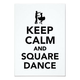 Keep calm and square dance card