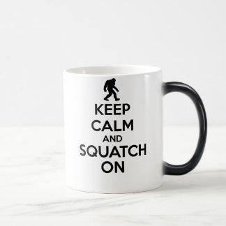 Keep Calm and Squatch On | Bigfoot Sasquatch Magic Mug