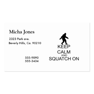 Keep Calm And Squatch On Double-Sided Standard Business Cards (Pack Of 100)