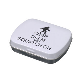 Keep Calm And Squatch On Jelly Belly Tin