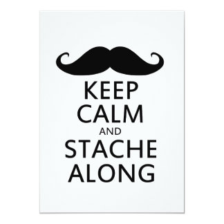 Keep Calm and Stache Along Card