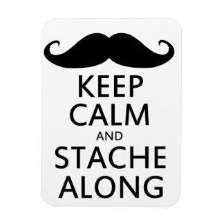 Keep Calm and Stache Along Magnet