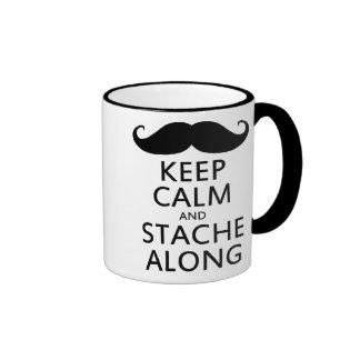 Keep Calm and Stache Along Ringer Mug