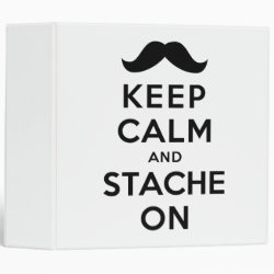 Avery Signature 1' Binder with Keep Calm and Stache On design