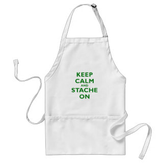 Keep Calm and Stache On Apron