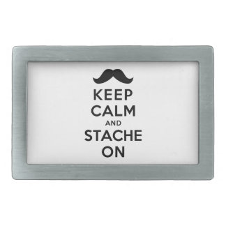 Keep Calm and Stache On Belt Buckle