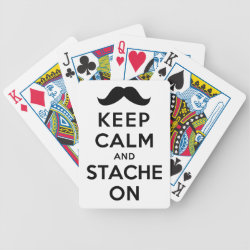 Playing Cards with Keep Calm and Stach On design