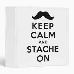 Avery Signature 1' Binder with Keep Calm and Stach On design