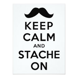 6.5' x 8.75' Invitation / Flat Card with Keep Calm and Stach On design