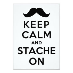 3.5' x 5' Invitation / Flat Card with Keep Calm and Stach On design