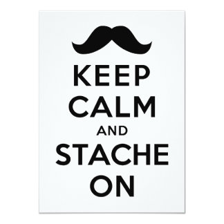 Keep Calm and Stache On Card