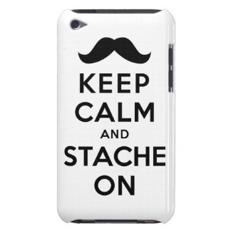 Keep Calm and Stache On Case-Mate iPod Touch Case