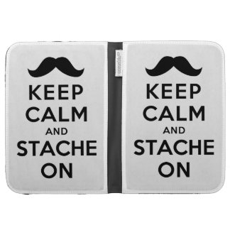 Keep Calm and Stache On Cases For The Kindle