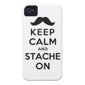 Keep Calm and Stache On Case-Mate iPhone 4 Case