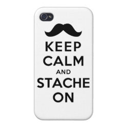 Case Savvy iPhone 4 Matte Finish Case with Keep Calm and Stach On design