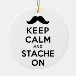 Circle Ornament with Keep Calm and Stache On design