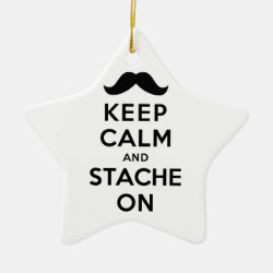 Star Ornament with Keep Calm and Stach On design
