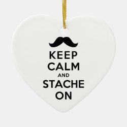 Heart Ornament with Keep Calm and Stach On design