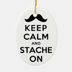 Oval Ornament with Keep Calm and Stach On design