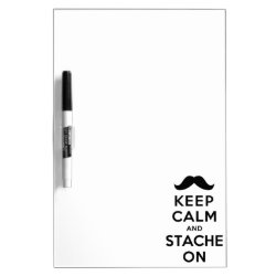 Medium Dry-erase Board with Keep Calm and Stach On design