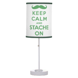Table Lamp with Keep Calm and Stach On design