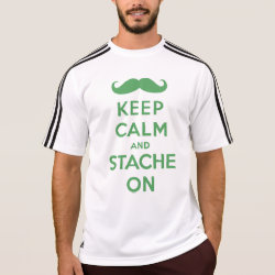 Men's Adidas ClimaLite® T-Shirt with Keep Calm and Stach On design