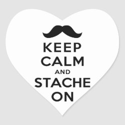 Heart Sticker with Keep Calm and Stach On design