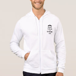 American Apparel California Fleece Zip Hoodie with Keep Calm and Stach On design