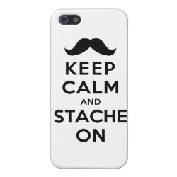 Case Savvy iPhone 5 Matte Finish Case with Keep Calm and Stach On design