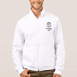 American Apparel California Fleece Zip Jogger with Keep Calm and Stache On design