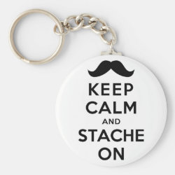 Basic Button Keychain with Keep Calm and Stach On design