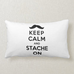 Throw Pillow Lumbar 13' x 21' with Keep Calm and Stache On design